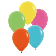 Hawaiian Luau Tropical Multi Coloured  Latex Balloons