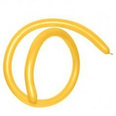 Gold Metallic Yellow 160T Modelling Latex Balloons
