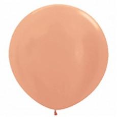 Pink Metallic Rose Gold  Latex Balloons