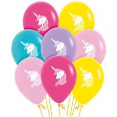 Teardrop Fashion Multi Coloured Magical Unicorn Latex Balloons 30cm Pack of 50