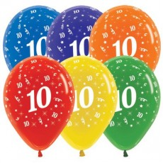 Teardrop Crystal Multi Coloured Age 10 Latex Balloons 30cm Pack of 25