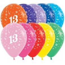 Multi Colour Fashion ed Age 13 Latex Balloons