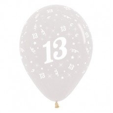 Happy Birthday Crystal Clear Latex Balloons