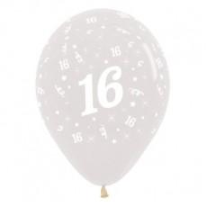16th Birthday Crystal Clear  Latex Balloons