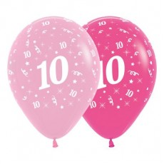 Pink Fashion  Latex Balloons