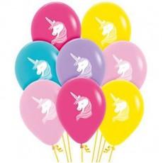 Teardrop Fashion Multi Coloured Magical Unicorn Latex Balloons 30cm Pack of 12