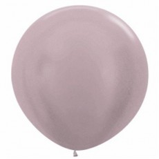 Silver Satin Pearl Greige  Latex Balloons