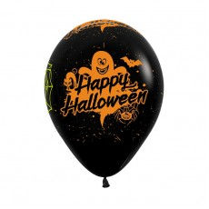 Halloween Fashion Black  Latex Balloons