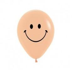 Emoji Peach Blush Smiley Faces Latex Balloons