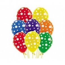 Emoji Crystal Multi Coloured Smiley Face Latex Balloons