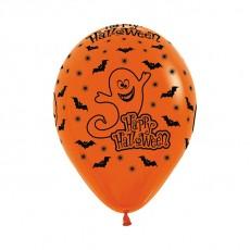 Halloween Fashion Orange Night Ghost Latex Balloons
