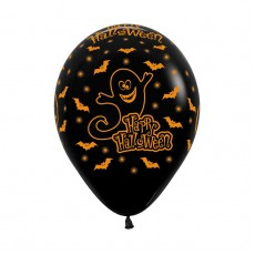 Halloween Fashion Black Night Latex Balloons
