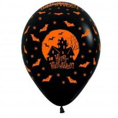 Halloween Fashion Black Night Manor Latex Balloons