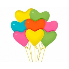 Multi Colour Tropical ed  Latex Balloons
