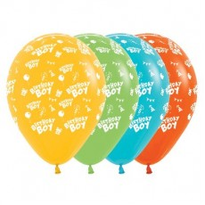 Happy Birthday Tropical Multi Coloured  Latex Balloons
