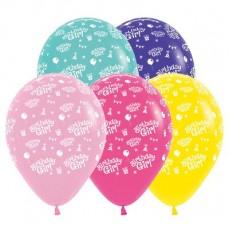 Happy Birthday Fashion Multi Coloured  Latex Balloons