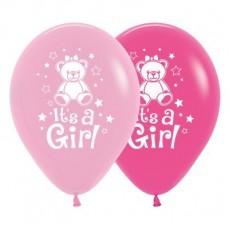 Baby Shower - General Fashion Pink & Fuchsia Teddy Latex Balloons