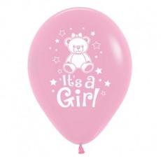 Baby Shower - General Bubblegum Pink Teddy Latex Balloons