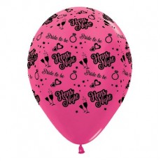 Hens Night Metallic Fuchsia  Latex Balloons