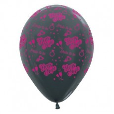 Hens Night Metallic Graphite  Latex Balloons