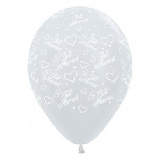 Wedding Pearl White Hearts Latex Balloons