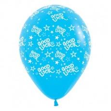 Good Luck Fashion Blue Stars Latex Balloons