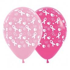 Pink Ribbon Day Bubblegum Pink & Fuchsia  Latex Balloons