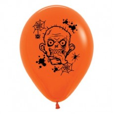 Halloween Fashion Orange Zombie Horror Latex Balloons