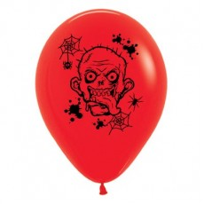 Halloween Fashion Red Zombie Horror Latex Balloons