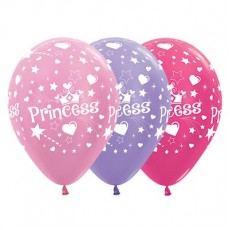 Princess Satin Pearl Pink, Lilac & Metallic Fuchsia  Latex Balloons