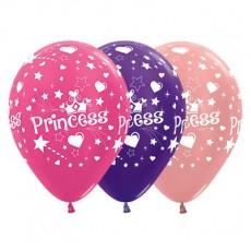 Princess Fuchsia, Purple Violet & Metallic Rose Gold  Latex Balloons