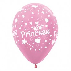 Princess Pearl Satin Pink  Latex Balloons