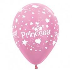 Princess Party Decorations - Latex Balloons Satin Pearl Pink Pack of 6