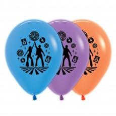 Teardrop Neon Blue, Purple Violet & Orange Disco & 70's Latex Balloons 30cm Pack of 25