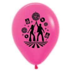 Disco & 70's Neon Fuchsia Disco Theme Latex Balloons