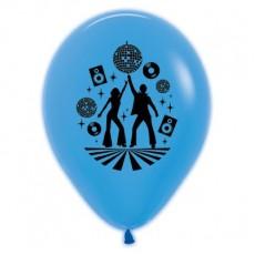 Teardrop Neon Blue Disco & 70's Disco Theme Latex Balloons 30cm Pack of 6