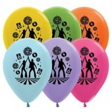 Teardrop Satin Pearl & Metallic Assorted Disco & 70's Latex Balloons 30cm Pack of 25