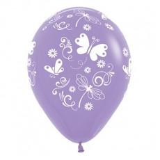 Lilac Butterflies & Dragonflies Latex Balloons