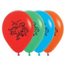 Dinosaur Multi Coloured  Latex Balloons