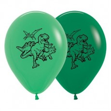 Dinosaur Jade Green & Forest Green  Latex Balloons