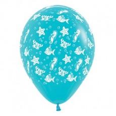 Hawaiian Party Decorations Sea Creatures Latex Balloons Pack of 6