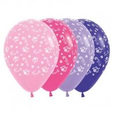 Multi Colour Fashion ed Filigree Flowers i Latex Balloons