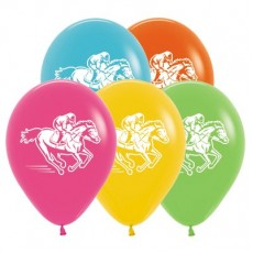 Horse Racing Tropical Assorted  Latex Balloons