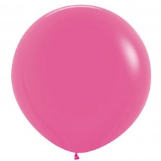 Fashion Fuchsia Magenta Latex Balloons 60cm Pack of 3
