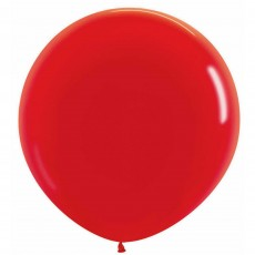 Fashion Red Latex Balloons 60cm Pack of 3