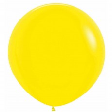 Fashion Yellow Latex Balloons 60cm Pack of 3