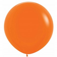 Fashion Orange Latex Balloons 60cm Pack of 3