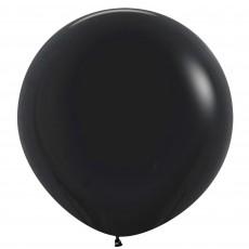 Fashion Black Latex Balloons 60cm Pack of 3