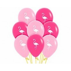 Hawaiian Luau Flamingo Latex Balloons