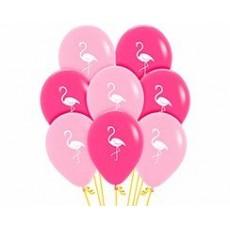 Hawaiian Party Decorations Flamingo Latex Balloons